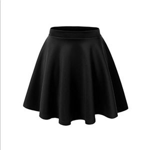 Forever 21 Plus Size Black Skater Circle Skirt 2X